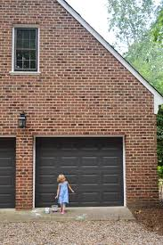 dark brown garage doorsPainting Our Garage Doors A Richer Deeper Color  Young House Love
