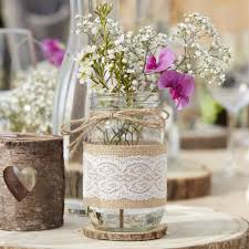 Decorated Jars For Weddings glass hessian wrapped jar wedding vase decoration by ginger ray 56