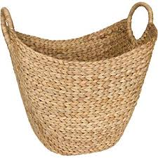 Large wicker basket Giant Seagrass Storage Basket By West Dwelling Large Water Hyacinth Wicker Basket Rattan Woven Basket Amazoncom Amazoncom Seagrass Storage Basket By West Dwelling Large Water