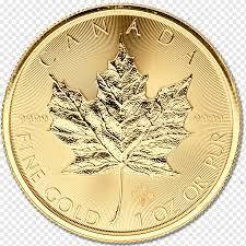 Kanadalı altın akçaağaç yaprağı para Kanada Doları, lakshmi altın sikke  para, altın Sikke, külçe altın, metal png