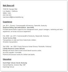 Different Formats For Resumes 10 Using Our Resume Templates .