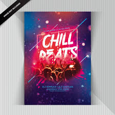 Chill Beats Party Flyer Psd File Premium Download