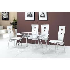 galaxy round clear glass dining table and 4 white chairs. full image for garcia glass dining table and 4 white chairs galaxy round clear
