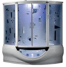 superior steam shower hydro massage whirlpool bathtub w 12 tv touchscreen panel bluetooth