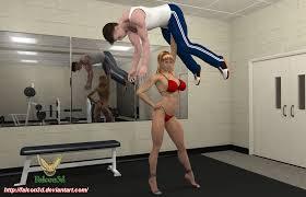 Sex women lift man