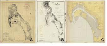 Tide Chart Coronado Maps Of San Diego Bay Depths Are In Feet A Nautical