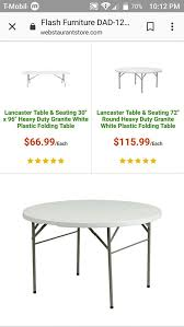 48 round plastic lightweight folding table furniture in columbus oh offerup