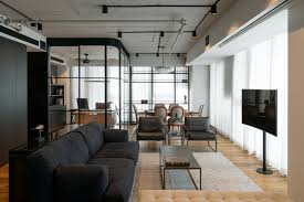 home office photos. A Home Office Is Cleverly Integrated Into The Living Room Of This Compact Condo Photos M
