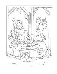 De Kerstman En Rendieren Kleurplaat Gratis Kleurplaten Printen