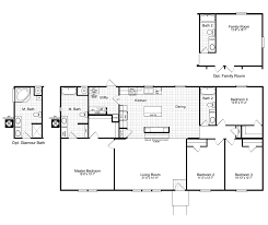 Single Wide Mobile Home Floor Plans 2 Bedroom Single Wide Mobile Home Plans Friendship Encore 60009l 14x66