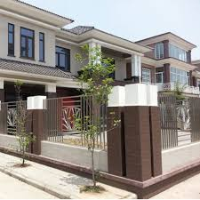 culture stone front house exterior wall tiles design for outside house modern house with large fence