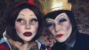 dead snow white evil queen makeup with my mama