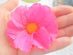 Make Easy Paper Flower Clean Guides Easy Flowers With Crepe Paper How To Make Easy