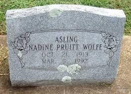 WOLFE, NADINE - Benton County, Arkansas   NADINE WOLFE - Arkansas  Gravestone Photos