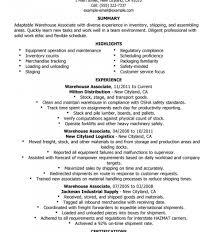 Sample Resume For Warehouse Worker B61g Breathtaking Examples