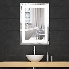 Amazon Lighted LED Frameless Backlit Wall Mirror