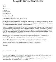Rfp Cover Letter Related Post Rfp Response Proposal Cover Letter ...
