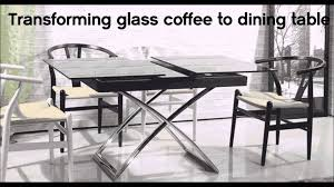 transforming small glass table turns into dining table by murphysofa vancouver you