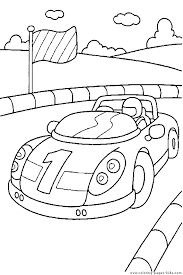 Race Car Driver In A Race Car Coloring Page