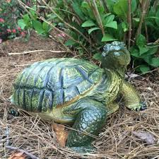 realistic garden turtle tortoise statue