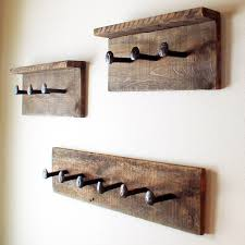 How To Make A Coat Rack With Railroad Spikes Rustic coat rack Barn wood wall hanger Railroad spike hooks 15