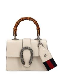 gucci mini dionysus leather top handle satchel ivory in white