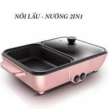 Bếp nướng điện tiện dụng-Bếp nướng-Bếp nướng điện gia dụng đa năng-Bếp  nướng 2 ngăn