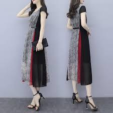 Plus Size Short-sleeved Dress <b>2019 New Slim Temperament</b> ...