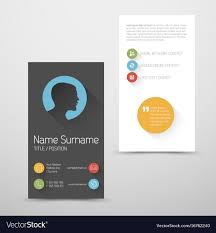 Modern Vertical Business Card Template With Flat