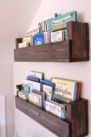 rustic wood nursery bookshelf designs