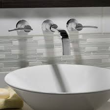 wall mount sink faucet. Bathroom Sink Faucets - Berwick Wall-Mounted Widespread Faucet With Lever Handles Polished Wall Mount L