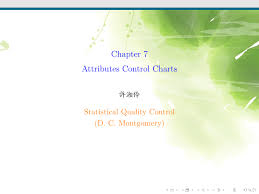 Difference Between C Chart And P Chart Chapter 7 Attributes Control Charts