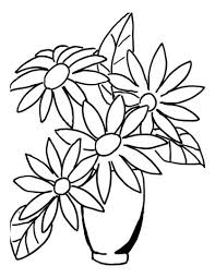 Small Picture Flower Bouquet in a Vase coloring page Free Printable Coloring Pages