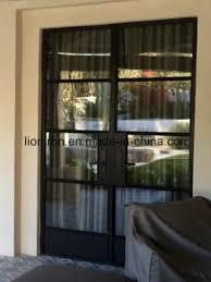 austrilia popular slim profile steel french doors for