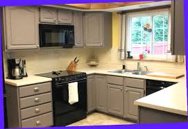 painted kitchen cabinets with black appliances. Kitchen : Charming Painted Cabinets With Black Appliances .