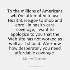 Healthcare Gov Quote Delectable Marilyn Tavenner Quotes StoreMyPic