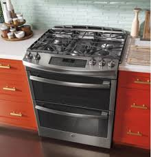 double oven gas range. GE PGS950SEFSS Profile 30\u201d Stainless Steel Slide-In Range Double Oven Gas