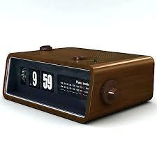 retro digital clock stunning alarm vintage radio brown flip desk white d