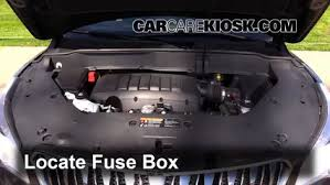 replace a fuse 2013 2016 buick enclave 2013 buick enclave 3 6l v6 2002 Buick LeSabre Fuse Box Diagram locate engine fuse box and remove cover