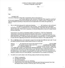 Self Employed Agreement Template Contractor Sample Employment Ideas ...