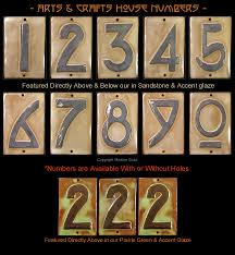 Decorative House Numbers Arts Crafts House Numbers Craftsman House Numbers Arts Crafts