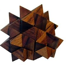 24 blocks make up this 6 sided star puzzle a nice hard collectors puzzle