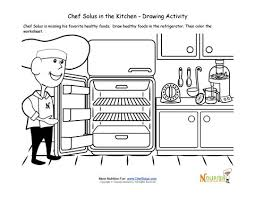 Small Picture Cooking with Kids Drawing Activity and Coloring Page For Children
