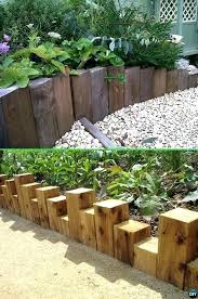 garden bed edging ideas wood edging wood block garden edging creative garden bed edging ideas projects garden bed edging ideas