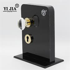 interior crystal glass door knobs with locks