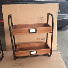 towel stand wood. Iron Bathroom Towel Rack Hanging Kitchen Shelf Antique Double Storage Wood Stand I