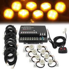 Strobe Light Led Kit Foxcid 160 Watt Hide Away Headlight Strobe Light Kit 8 Led
