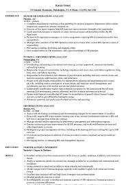 Hr Operations Analyst Resume Samples Velvet Jobs