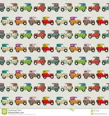 Het Naadloze Behang Van De Auto Stock Illustratie Illustratie