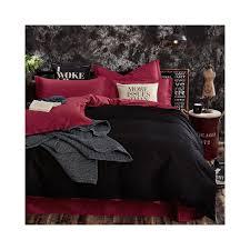 100 cotton black red color king queen twin size kids bedding set solid color duvet cover set bedsheet fitsheet pillowcases color 1 size twin bedsheet